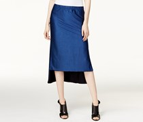 DKNY Reversible High-Low Midi Skirt, Classic Navy