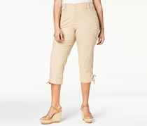 Lee Platinum Plus Size Cropped Cargo Pants, Wheatgrass