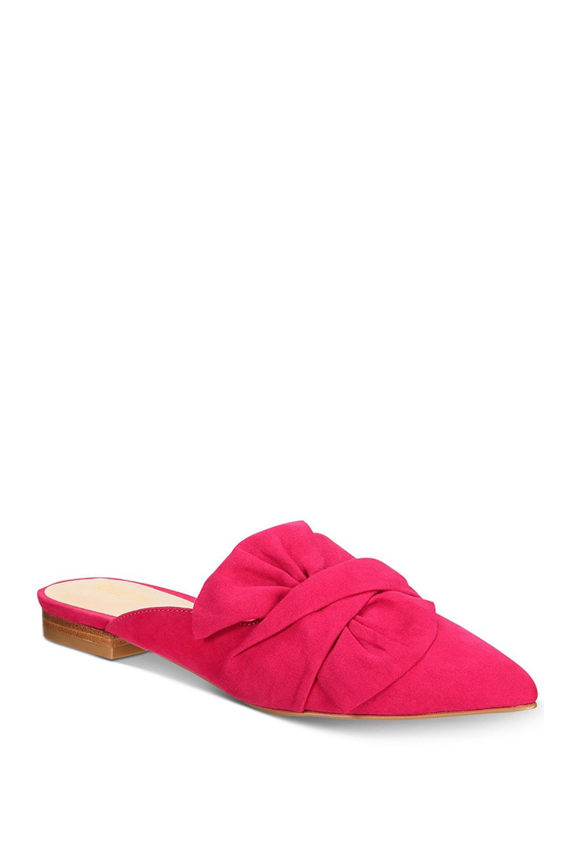 Women's Palace Pointed Toe Mules, Fuchsia