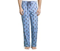 Psycho Bunny Men's Sleepwear Pants, Blue