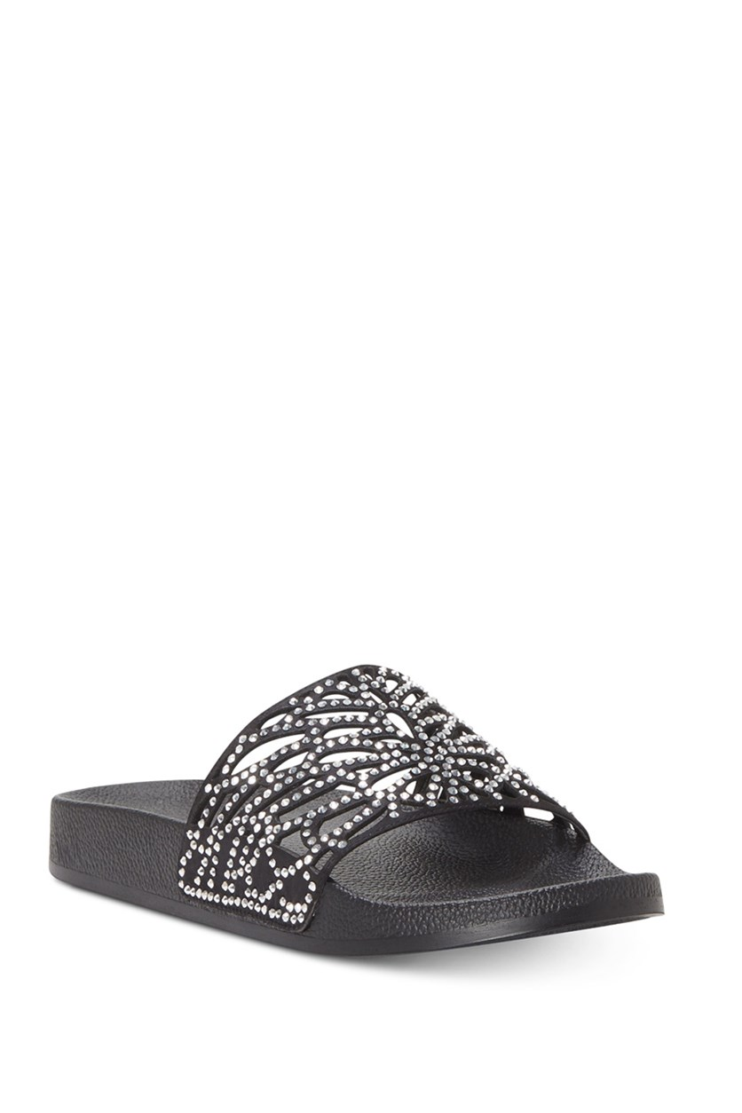 Womens Peymin Pool Slides, Black