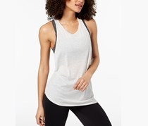Calvin Klein Performance Crossover-Back Asymmetrical Tank Top, Optic Heather
