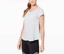 Calvin Klein Overlapping-Back T-Shirt, Pearl Grey Heather