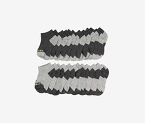 Pro Player 12-Pack Boys Low Cut Socks, Charcoal/Grey