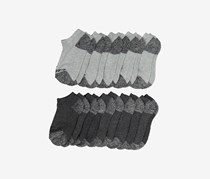 Pro Player 10-Pack Boys No Show Socks, Charcoal/Grey