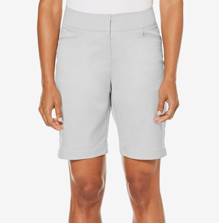 High-Rise Golf Shorts, Grey