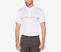 PGA TOUR Mens Ombre Engineered Tops, Stripe Bright White