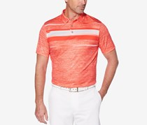 PGA TOUR Men's Pro Series Double-Knit Shirt, Hibiscus