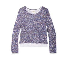 Roxy Girl's Great Plains Layered-Look Sweater, Astro Auro