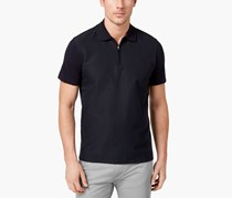 Ryan Seacrest Distinction Men's Slim-Fit Textured Polo, Navy