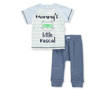 Rene Rofe Baby Boys' 2-Piece Outfit, Blue