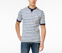 Weatherproof Vintage Men's Striped Pocket T-Shirt, Blue