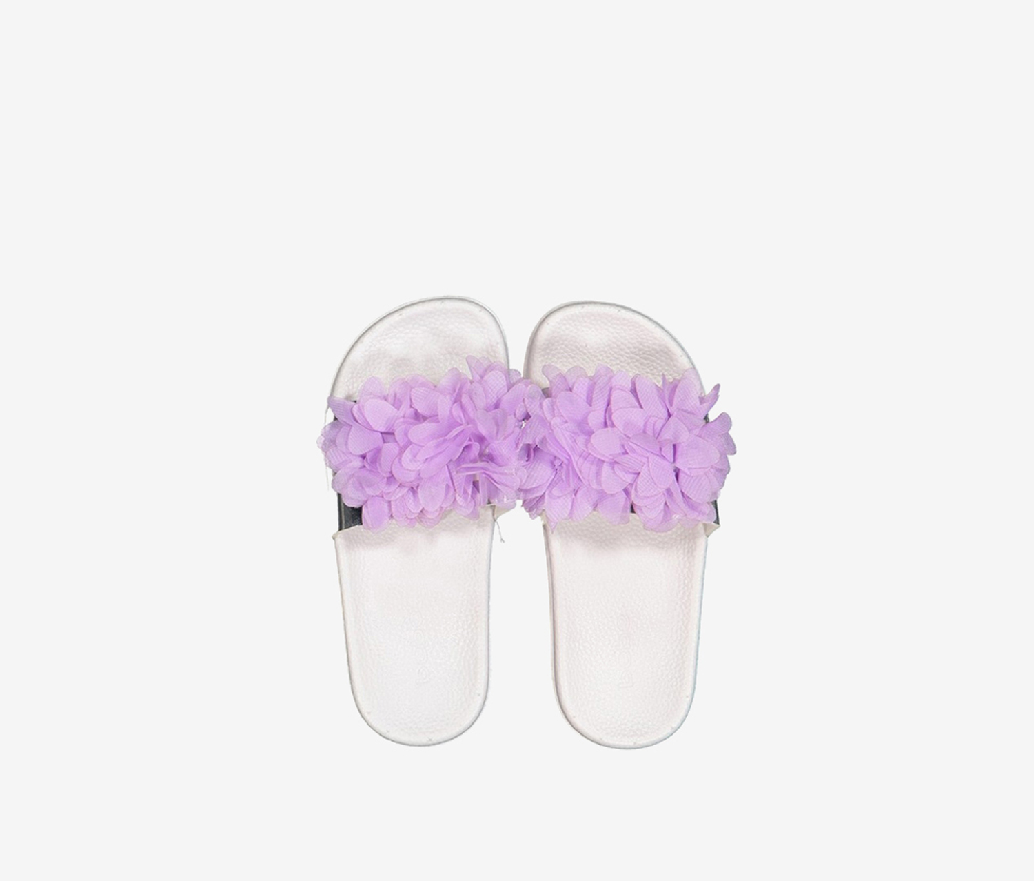 bebe Kid's Floral Slippers, Purple White