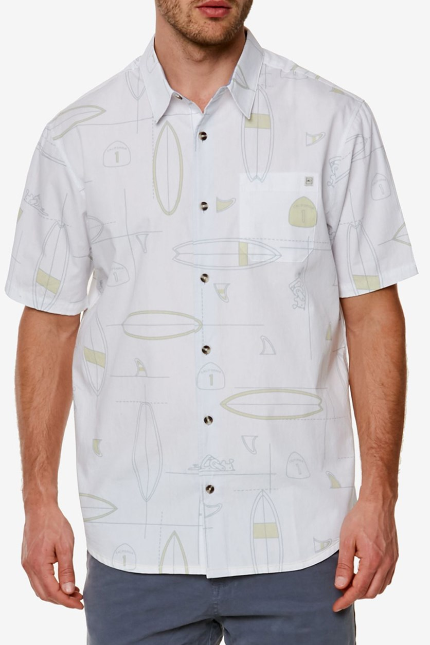 Men's Cali Printed Shirt, White