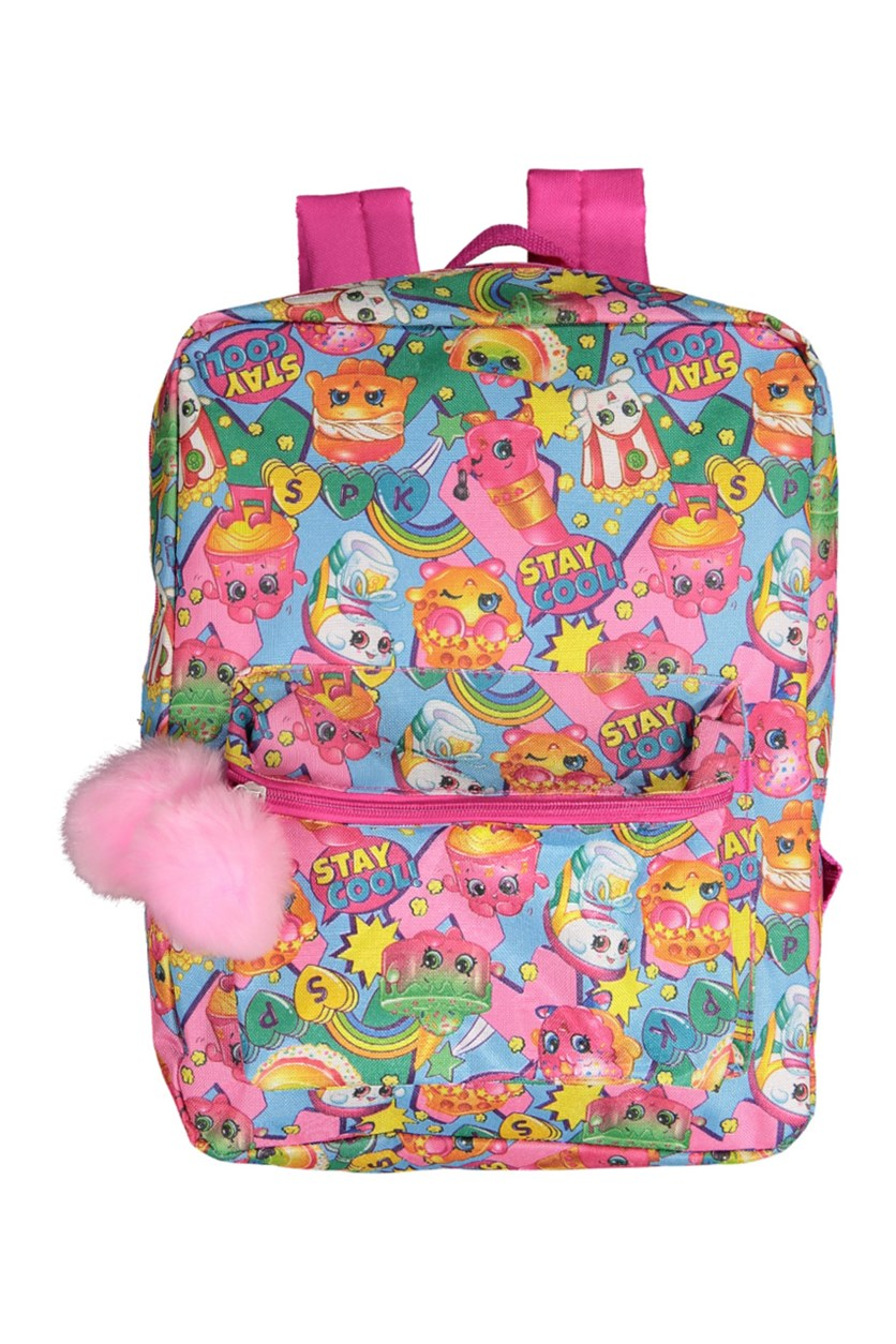 Kids Girls Printed Backpack, Pink Combo