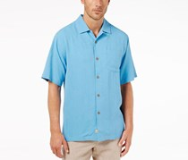 Tommy Bahama Men's Big and Tall Tiki Palms Shirt, Blue