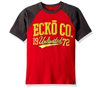 Ecko Unltd Boys' Classic Short Sleeve T-Shirt, Red