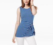Tommy Hilfiger Striped Sarong-Tie Top, Surf/Ivory