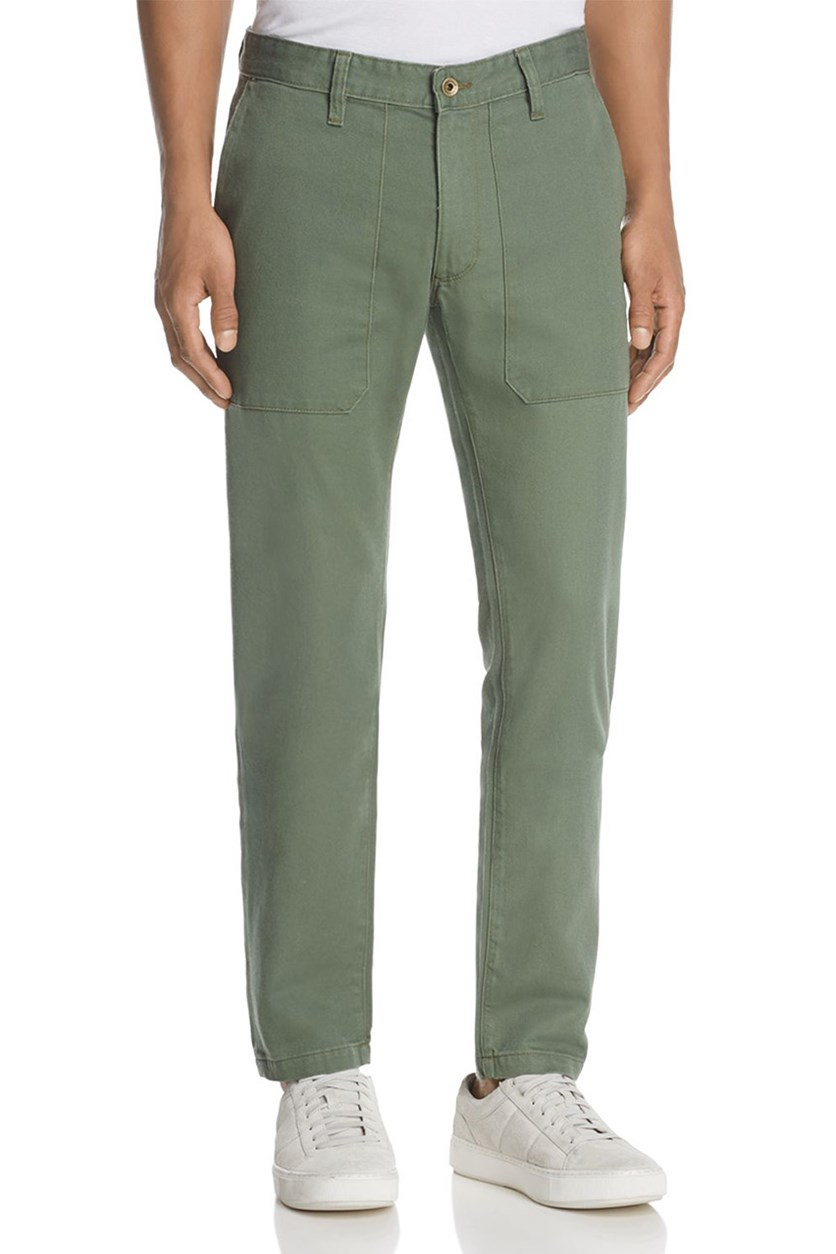 Regular Fit Military Chino, Army Green