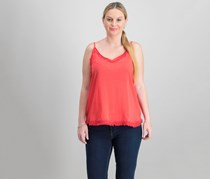 Collective Concepts Women's Textured Top, Red