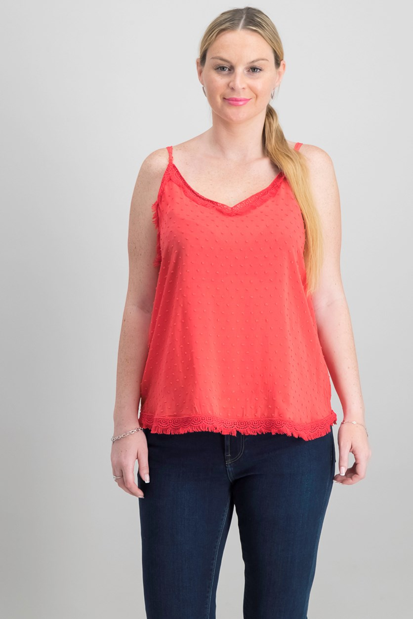 Women's Textured Top, Red
