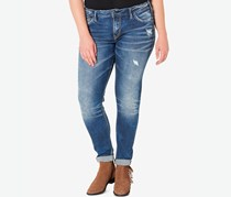 Silver Jeans Co. Ripped Jeans, Indigo Combo