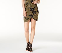 Guess Women's Amore Printed Tulip-Front Skirt, Olive