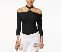Guess Ari Off-The-Shoulder Choker Bodysuit, Black