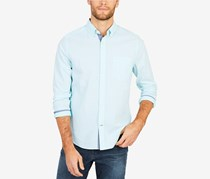 Nautica Men's Classic-Fit Stretch Stripe Shirt, Bali Bliss