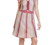 Guess Izzy Flared Striped Skirt, Pink Combo