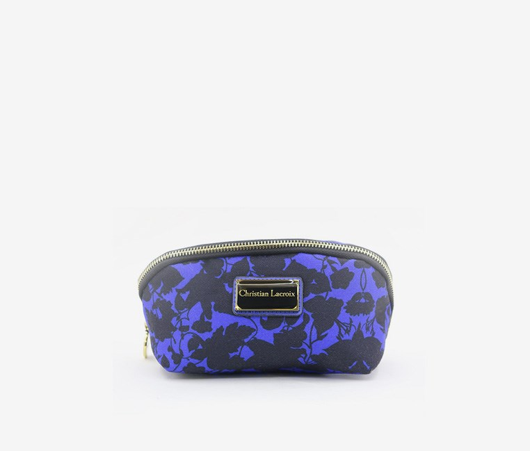 Square Cosmetic Case, Cobalt