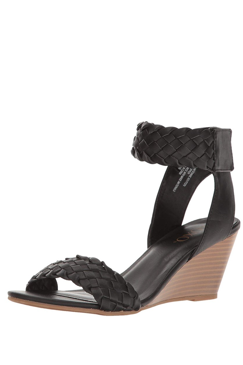 Sonnie Wedge Sandals, Black