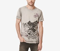 Buffalo David Bitton Men's Graphic-Print T-Shirt, Tan