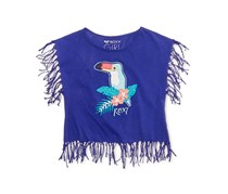 Roxy Girl's Toucan Fringe Cotton Tank Top, Purple
