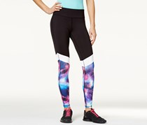 Material Girl Active Juniors' Printed Yoga Leggings, Black/Pink