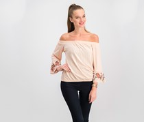 Jessica Simpson Arlene Embroidered Off-The Shoulder Blouse, Spanish Vanilla