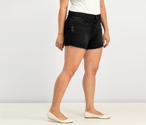 WILLIAM RAST Cotton Button-Up Denim Shorts, Darkest Tunnel