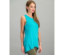 Adrienne Vittadini Plain Tunic Tops, Aquatic