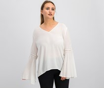1.State Women's Flared Sleeve Top, White