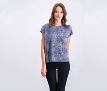 Vince Camuto High-Low Tie-Dye T-Shirt, Iris Combo