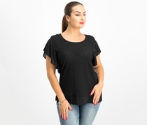 Vince Camuto Ruffle Sleeve Top, Rich Black