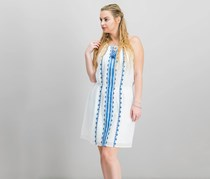 Vince Camuto Embroidered Dress, Ultra White