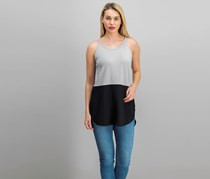 RD Style Women's Colorblock Top, Ashes/Black