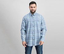 Weatherproof Vintage Men's Plaid Shirt, Turquoise/Aqua