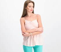 Almost Famous Juniors' Smocked Cami Top, Blush