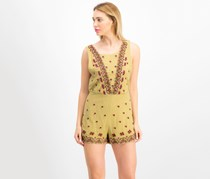Free People Margarita Sleeveless Embroidered, Moss