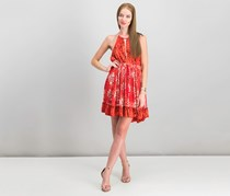 Free People Beach Day Halter Dress, Red