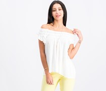 Free People Coconut Ruffled T-Shirt, Ivory