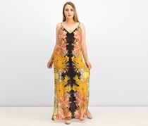 Women's Free People Wildflower Print Maxi Dress, Black/Yellow/Red Combo