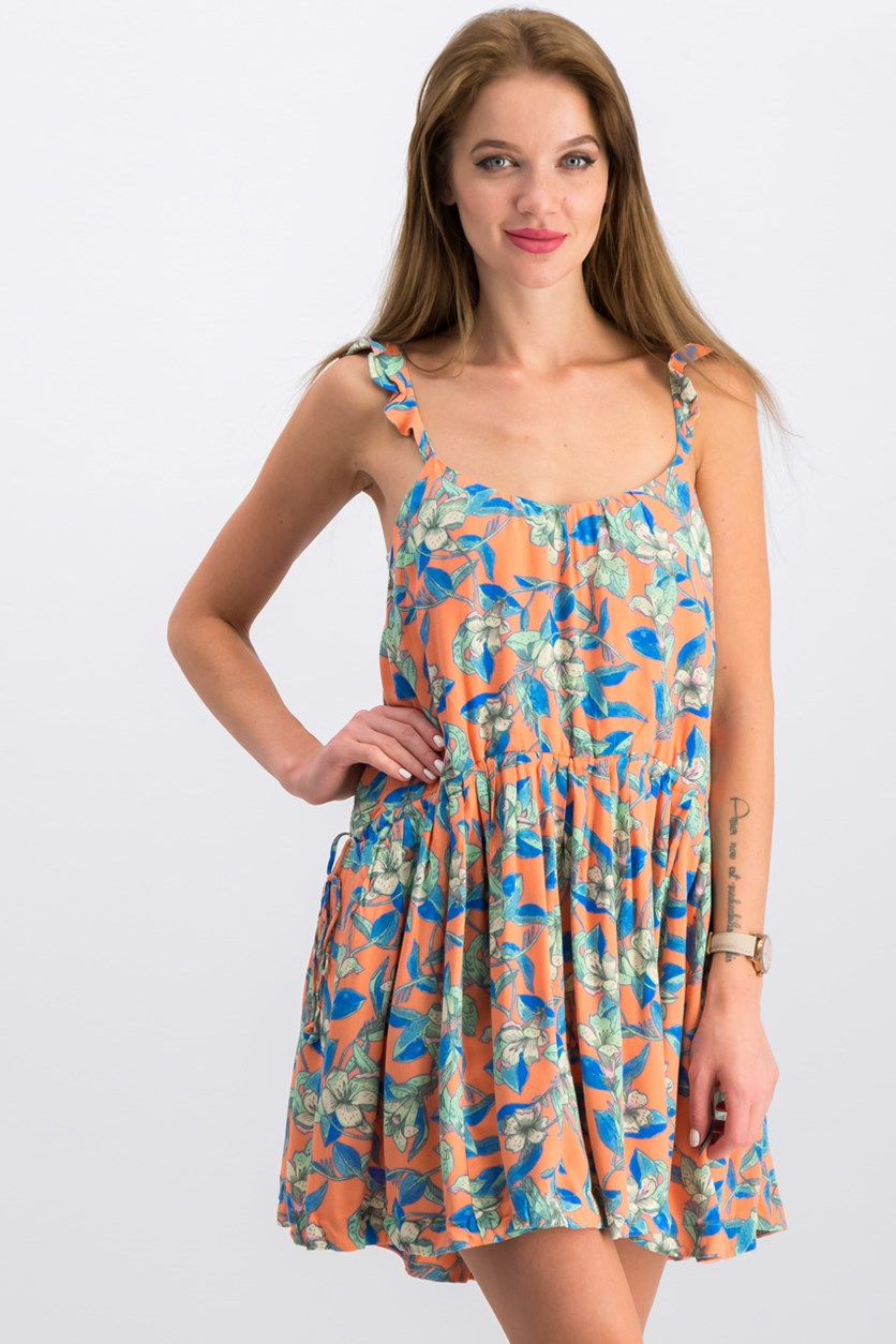 Dear You Mini Dress, Orange/Blue